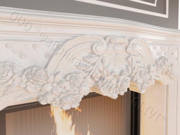 Мраморный каминный портал (облицовка) Роуз, каталог (интернет-магазин) каминов из мрамора, изображение, фото 2