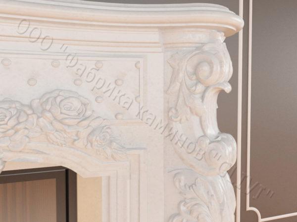 Мраморный каминный портал (облицовка) Роуз, каталог (интернет-магазин) каминов из мрамора, изображение, фото 3