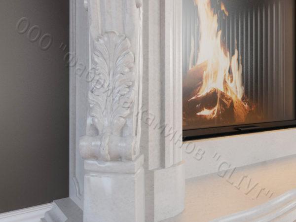 Мраморный каминный портал (облицовка) Роуз, каталог (интернет-магазин) каминов из мрамора, изображение, фото 4