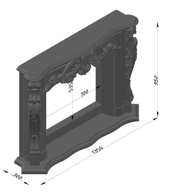 Мраморный каминный портал (облицовка) Роуз, каталог (интернет-магазин) каминов из мрамора, изображение, фото 18