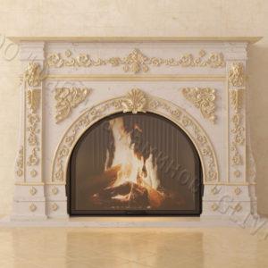 Мраморный каминный портал (облицовка) Версаль, каталог (интернет-магазин) каминов из мрамора, изображение, фото 2