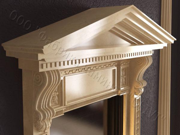 Мраморный каминный портал (облицовка) Веста, каталог (интернет-магазин) каминов из мрамора, изображение, фото 4