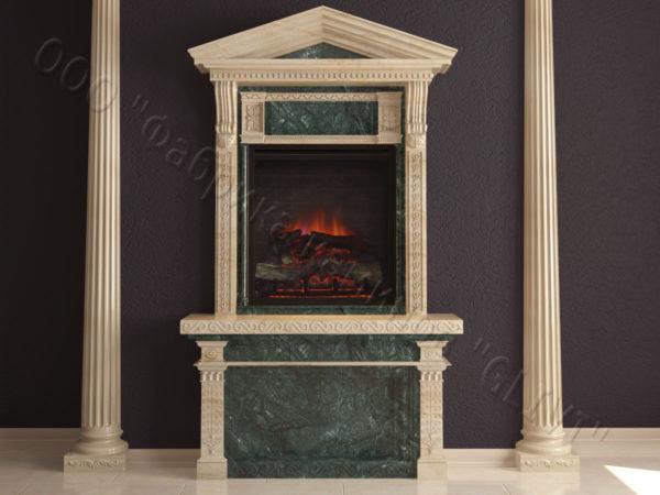 Мраморный каминный портал (облицовка) Веста, каталог (интернет-магазин) каминов из мрамора, изображение, фото 6