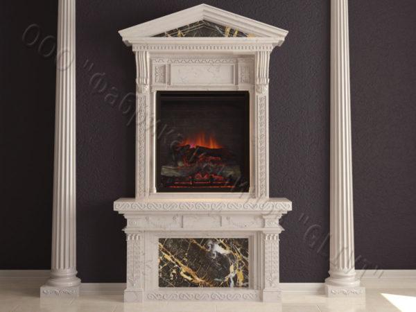 Мраморный каминный портал (облицовка) Веста, каталог (интернет-магазин) каминов из мрамора, изображение, фото 7