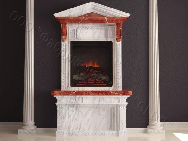 Мраморный каминный портал (облицовка) Веста, каталог (интернет-магазин) каминов из мрамора, изображение, фото 9