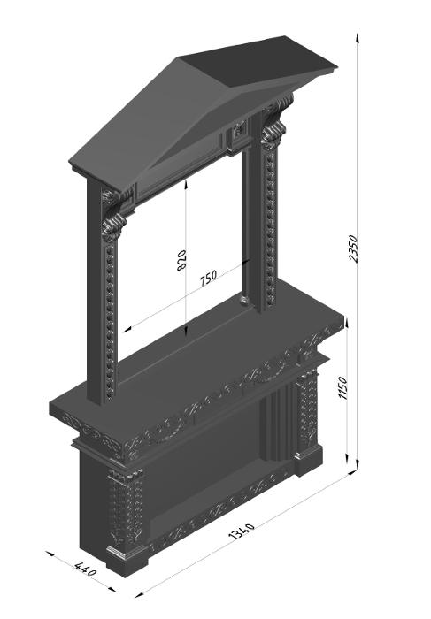 Мраморный каминный портал (облицовка) Веста, каталог (интернет-магазин) каминов из мрамора, изображение, фото 10