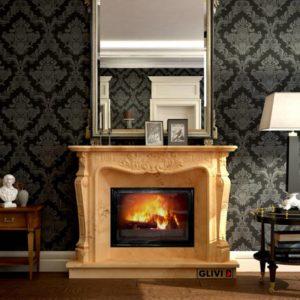 Мраморный каминный портал (облицовка) Женева, каталог (интернет-магазин) каминов из мрамора, изображение, фото 1