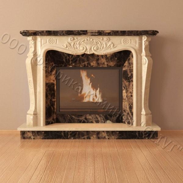 Мраморный каминный портал (облицовка) Женева, каталог (интернет-магазин) каминов из мрамора, изображение, фото 3