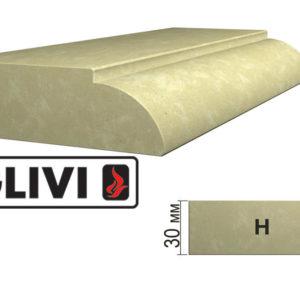 Обработка профиля (кромки) камня H от Гливи. Снятие фаски, изображение, фото