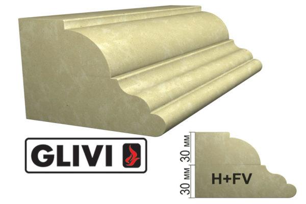 Обработка профиля (кромки) камня H+FV от Гливи. Снятие фаски, изображение, фото 1