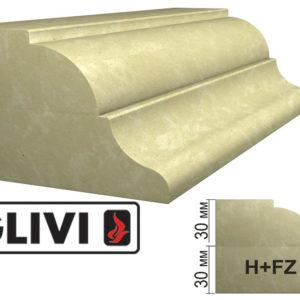 Обработка профиля (кромки) камня H+FZ от Гливи. Снятие фаски, изображение, фото 1