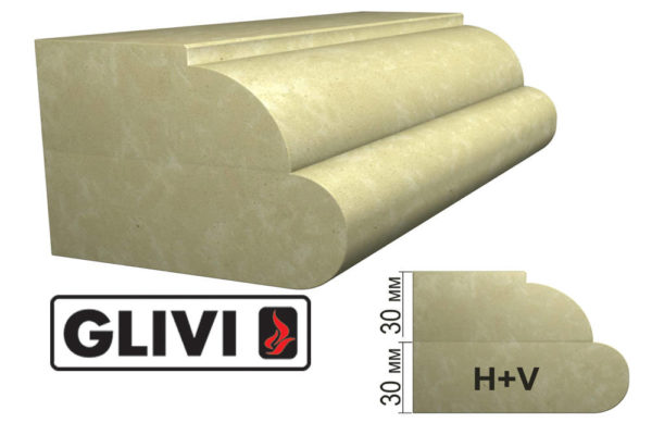 Обработка профиля (кромки) камня H+V от Гливи. Снятие фаски, изображение, фото 1