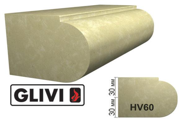 Обработка профиля (кромки) камня HV60 от Гливи. Снятие фаски, изображение, фото