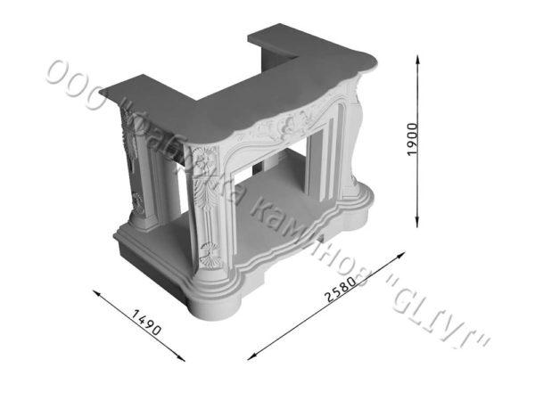 Двухсторонний (туннельный, стеклянный) камин Импрэссион, каталог каминов, изображение, фото 5