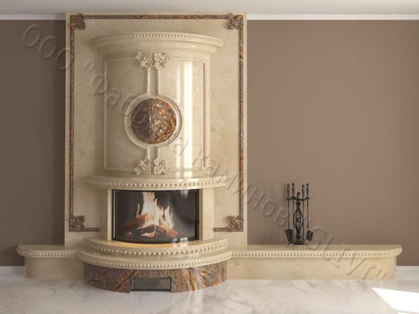 Мраморный каминный портал (облицовка) Лион, каталог (интернет-магазин) каминов из мрамора, изображение, фото 13