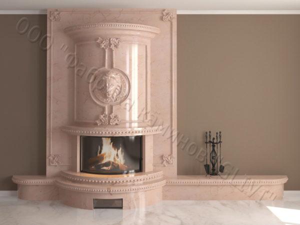 Мраморный каминный портал (облицовка) Лион, каталог (интернет-магазин) каминов из мрамора, изображение, фото 15