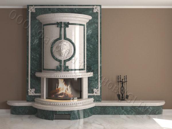 Мраморный каминный портал (облицовка) Лион, каталог (интернет-магазин) каминов из мрамора, изображение, фото 16