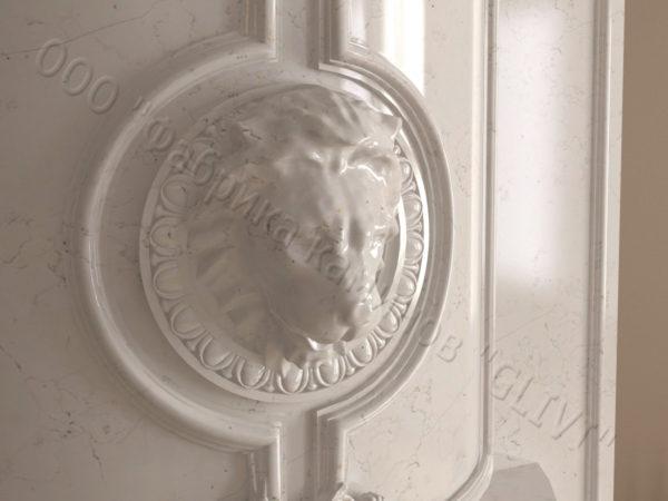 Мраморный каминный портал (облицовка) Лион, каталог (интернет-магазин) каминов из мрамора, изображение, фото 3