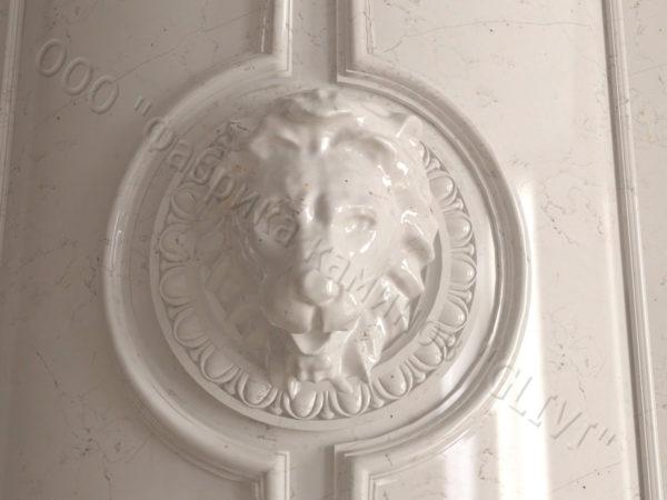 Мраморный каминный портал (облицовка) Лион, каталог (интернет-магазин) каминов из мрамора, изображение, фото 4