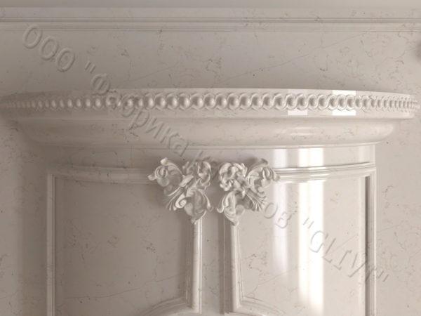 Мраморный каминный портал (облицовка) Лион, каталог (интернет-магазин) каминов из мрамора, изображение, фото 5