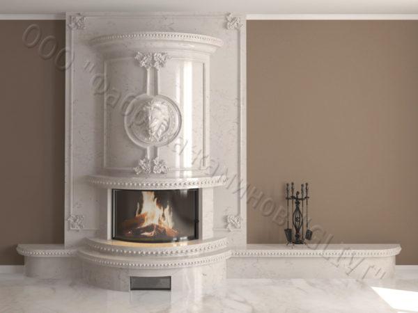 Мраморный каминный портал (облицовка) Лион, каталог (интернет-магазин) каминов из мрамора, изображение, фото 8
