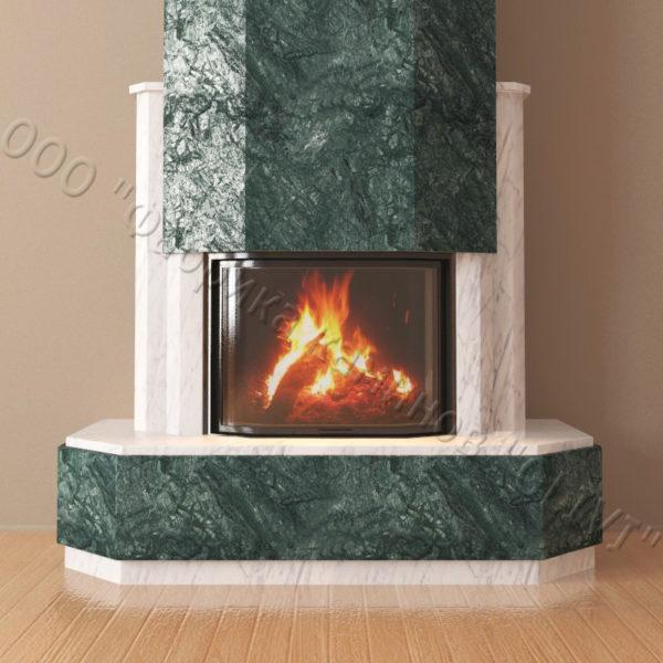 Мраморный каминный портал (облицовка) Малибу, каталог (интернет-магазин) каминов из мрамора, изображение, фото 6