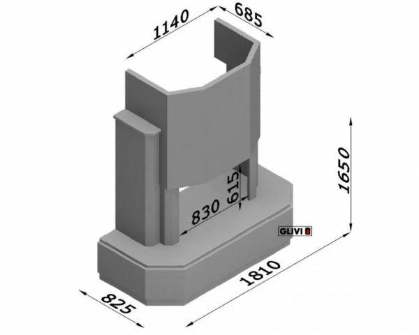 Мраморный каминный портал (облицовка) Малибу, каталог (интернет-магазин) каминов из мрамора, изображение, фото 7