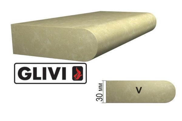 Обработка профиля (кромки) камня V от Гливи. Снятие фаски, изображение, фото