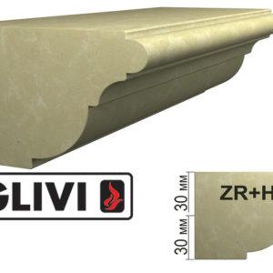 Обработка профиля (кромки) камня ZR+H от Гливи. Снятие фаски, изображение, фото 1