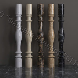 Балясины для балюстрад из мрамора Акари, изображение, фото 1