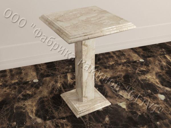 Стол из натурального камня (мрамора) Фива, интернет-магазин столов, изображение, фото 1