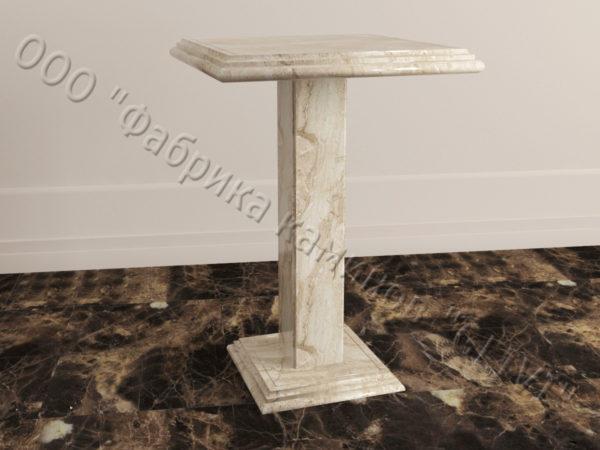 Стол из натурального камня (мрамора) Фива, интернет-магазин столов, изображение, фото 2
