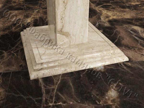 Стол из натурального камня (мрамора) Фива, интернет-магазин столов, изображение, фото 4