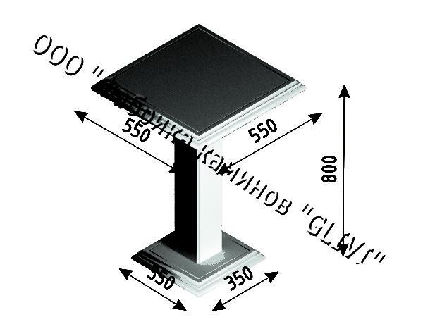 Стол из натурального камня (мрамора) Фива, интернет-магазин столов, изображение, фото 5