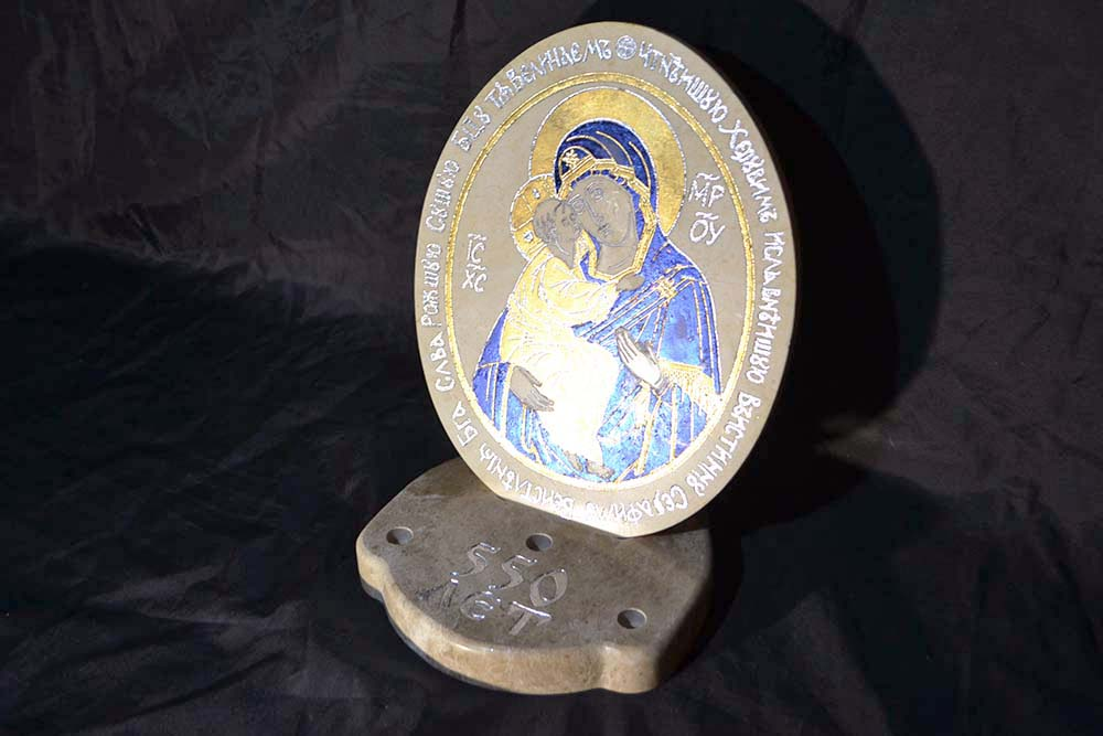 Жировичская Матерь в голубом золоте, фото