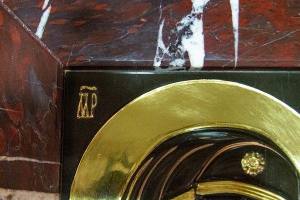Икона Казанской Богоматери № 3_12-1 (резная) из мрамора от Гливи, фото 2