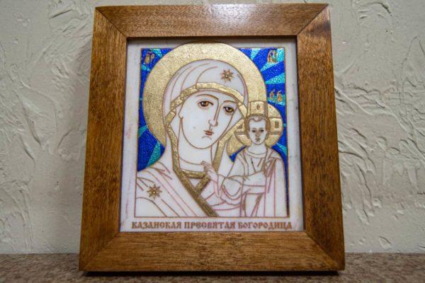 Икона Казанской Богоматери № 3 оформленная художественной эмалью или поталью, фото 1