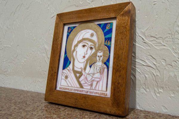 Икона Казанской Богоматери № 3 оформленная художественной эмалью или поталью, фото 2