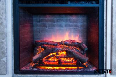 Статья Электрокамин с эффектом живого пламени, фото сделано в салоне каминов и изделий из камня Гливи на ул. П. Бровки 3, корпус 2, фото 6