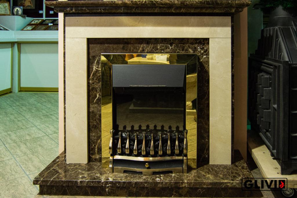 Статья Электрокамин с эффектом живого пламени, фото сделано в салоне каминов и изделий из камня Гливи на ул. П. Бровки 3, корпус 2, фото 7
