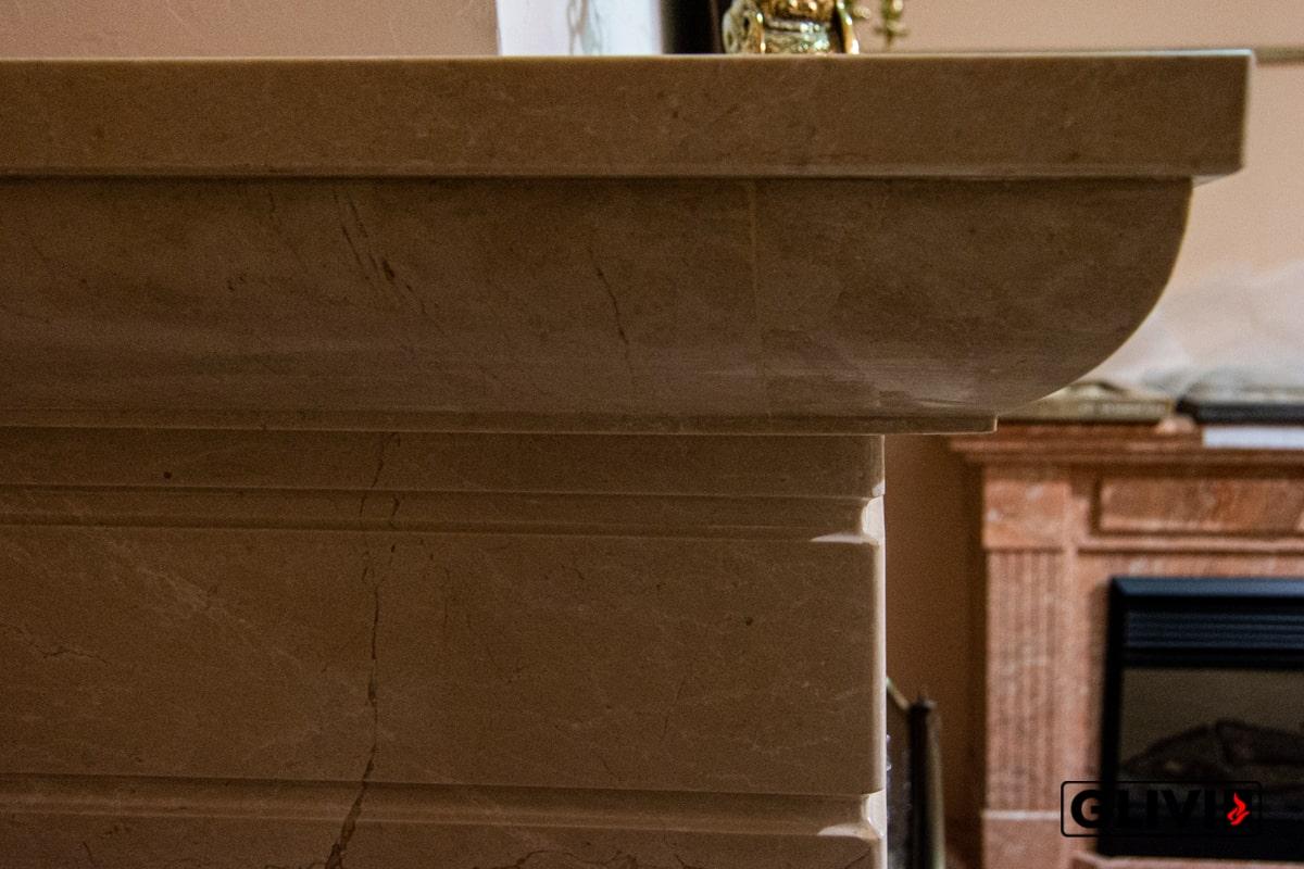 Мрамор Crema Marfil, салон Гливи, фото 2