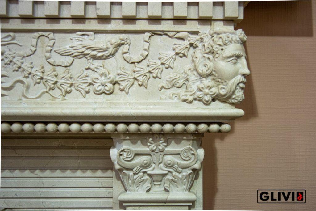 Мрамор Crema Marfil, салон Гливи, фото 5