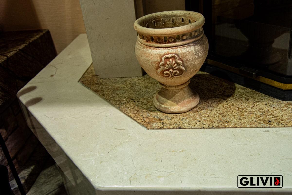 Мрамор Crema Marfil, салон Гливи, фото 7