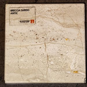 Мрамор Breccia Sardo с обработкой антик, салон Гливи, фото 1