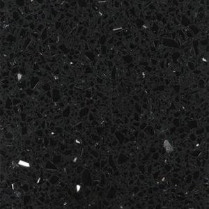 кварцевый композитный камень, композит кварца Black stars, фото 1