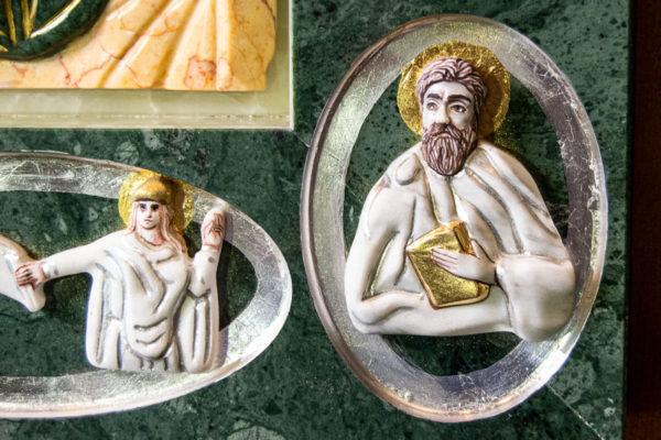 Икона Иверской Божией Матери (рельефная, храмовая) без № из мрамора, камня, от Гливи, фото 3