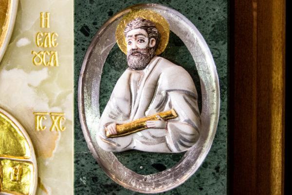 Икона Иверской Божией Матери (рельефная, храмовая) без № из мрамора, камня, от Гливи, фото 4