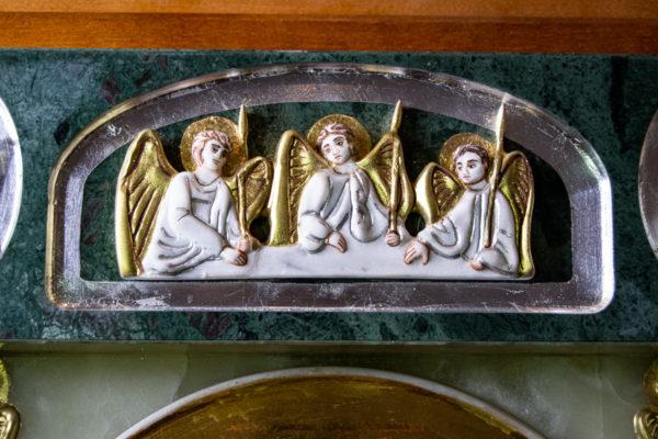Икона Иверской Божией Матери (рельефная, храмовая) без № из мрамора, камня, от Гливи, фото 10