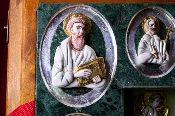 Икона Иверской Божией Матери (рельефная, храмовая) без № из мрамора, камня, от Гливи, фото 11