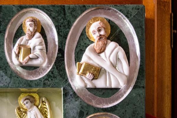 Икона Иверской Божией Матери (рельефная, храмовая) без № из мрамора, камня, от Гливи, фото 12